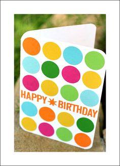 Martha Stewart Happy Birthday punch - dotted card - Scrapbook.com