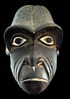 """Bamum, Cameroon Gorilloa Mask 12"""" H, 12"""" Deep, 9"""" W"""