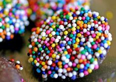 Gespikkelde chocoladetruffels