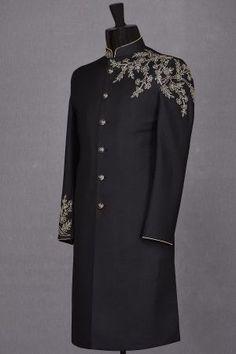Lehenga, Saree, Blue Tuxedos, Sherwani, Men's Collection, Fashion Styles, Sd, Kurti, High Neck Dress