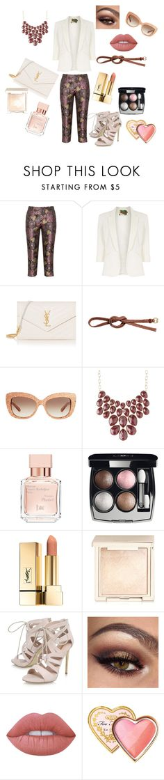"""""""love"""" by seka-247 ❤ liked on Polyvore featuring Manon Baptiste, Jolie Moi, Yves Saint Laurent, H&M, Kate Spade, Charlotte Russe, Maison Francis Kurkdjian, Chanel, Jouer and Carvela"""