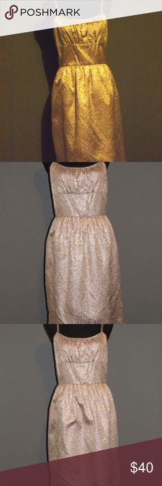 Molly New York Coctail Dress Anthropologie, Molly New York. Lovely, Lavender and Gold, Brocade, Cocktail Dress. Perfect condition. Worn Once. Molly New York Dresses