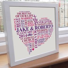 Items similar to Framed baby shower print. Personalised heart word art for baby girls. Girls christening present. on Etsy Anniversary Words, Silver Anniversary, Anniversary Gifts, Wedding Anniversary, Parents Anniversary, Marriage Anniversary, Daddy Gifts, Baby Girl Gifts, Gifts For Mom