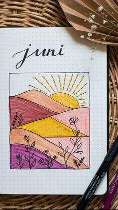 Bullet Journal Setup Juni