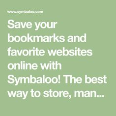 Save your bookmarks and favorite websites online with Symbaloo! The best way to store, manage, and organize your bookmarks on the web. Create a free account to share your favorites with friends, colleagues or students. With over 10 million users, Symbaloo is a trusted edtech tool of teachers and educators worldwide!