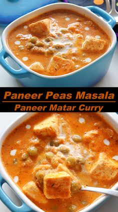 Paneer Peas Masala, a delicious and rich tomato based curry with Indian cottage cheese and peas. #indiancurry Sweets Recipes, Indian Food Recipes, Ethnic Recipes, Curry, Fusion Food, Recipe Community, Good Healthy Recipes, Bon Appetit, Food Hacks