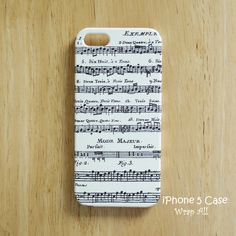 iPhone 5 case - Music notes / Musical iPhone 5 case/ Beige iPhone case / Decoupage iphone case. $16.50, via Etsy.