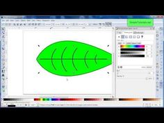 How to Draw a Leaf Tutorial - Inkscape - YouTube