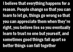 We have to have something to believe in.