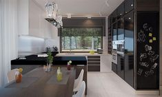 Compact Home Contemporary decor Construction, Contemporary Decor, Home Fashion, Blinds, Villa, House Styles, Kitchen, Inspiration, Furniture