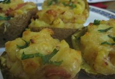 How to Make Stuffed Potato Skins With Bacon & Cheese by Raphael Ndaiga