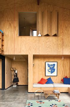 ply cladding. i want to focus on 'podular', cost effective, functional living with a scandi/clean influence for a student space.
