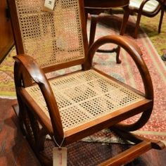 """Art Deco Rocking Chair """"Round Arms"""""""