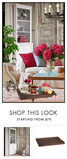 """""""Strawberries, Cookies & Cream"""" by linhbane ❤ liked on Polyvore featuring interior, interiors, interior design, home, home decor, interior decorating, Crate and Barrel and modern"""