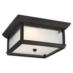 Feiss McHenry OL12813TXB-LED Outdoor Flush Mount Light - OL12813TXB-LED