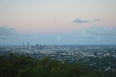 Beautiful views over Brisbane from Mt Coot-tha, the best place to watch the sun go down.