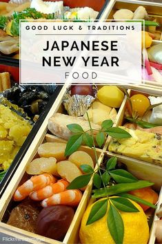 Learn what to eat for good luck and why on Japanese New Year including an osechi box, lobster and more. New Years Day Dinner, New Years Eve Food, Fall Recipes, Asian Recipes, Japanese Recipes, Asian Foods, Holiday Recipes, Japanese New Year Food, Japanese Things