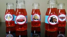 Disney Cars water bottle labels, lightening McQueen water bottle label  Check out this item in my Etsy shop https://www.etsy.com/listing/399078917/disney-cars-water-bottle-labels-disney