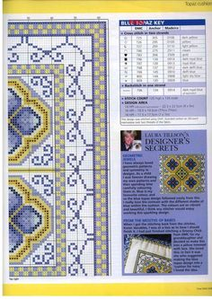 Cross-stitch Blue Topaz, part 3...  with the color chart...    Gallery.ru / Фото #34 - 32 - Orlanda