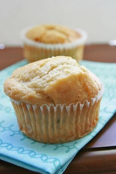Easy Peach Muffins with Greek Yogurt: 1/2 cup butter, softened; 3/4 cup sugar; 1 egg; 1/2 cup 2% plain Greek yogurt; 1 teaspoon vanilla extract; 11/2 cups all-purpose flour; 11/2 teaspoons baking powder; 1 cup chopped fresh or frozen peaches