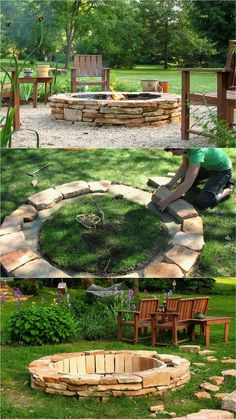24 Best Fire Pit Ideas to DIY or Buy ( Lots of Pro Tips! ) 24 Best Fire Pit Ideas to DIY or Buy Sitting around an outdoor fire pit with loved ones, gazing at the warm flames under the starry night sk Outside Fire Pits, Cool Fire Pits, Easy Fire Pit, Outdoor Fire Pits, Cheap Fire Pit, Rustic Fire Pits, Fire Pit Seating, Fire Pit Area, Fire Pit Table