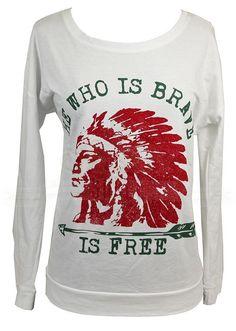GYPSY SOULE Shirt  BRAVE INDIAN CHIEF Tee LS  GYPSY COWGIRL NWT  XXL #GYPSYSOULE #TOP