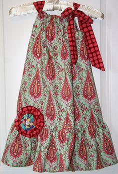 pillow case dress with ruffle