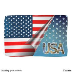 USA Flag Hand Towel | America's Birthday Party is just around the corner! Celebrate this 4th of July with cool & amazing patriotic gifts!