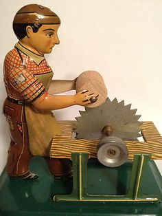 Early German Tin Litho Toy Machinist Windup Steam Bing Gunthermann Lehmann
