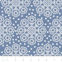 Camelot Cottons House Designer - The Alchemy - Medallions in Blue