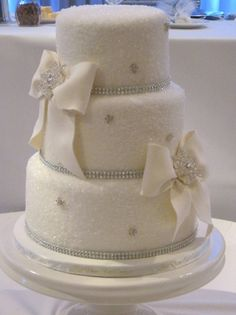 Something simply beautiful about a white wedding cake