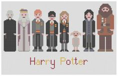 Harry Potter Cross Stitch Pattern PDF by XStitchMyHeart.    This actually makes me interested in cross stitch...