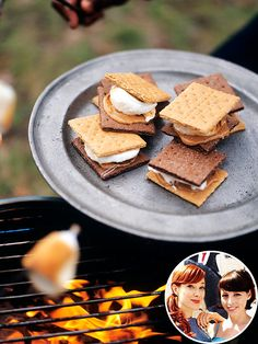 pb added to s'mores -- yes, please