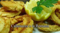 CALAMARES A LA ROMANA. Qué ricos, un plato que a todo el mundo gusta y es bien fácil de hacer