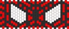 Spiderman cuff Kandi pattern Source by Pony Bead Patterns, Kandi Patterns, Pearler Bead Patterns, Peyote Patterns, Beading Patterns, Stitch Patterns, Kandi Cuff, Kandi Bracelets, Cat Coasters