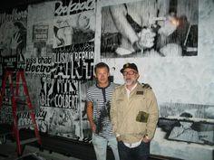 UK Street Artist Charlie Anderson and JP. New Feal Mor window