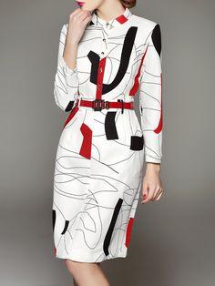 White Work V Neck Midi Dress - StyleWe.com