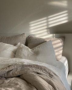 Dream Bedroom, Master Bedroom, House By The Sea, Box Patterns, Morning Light, Pillow Talk, Luxury Bedding, Interior Inspiration, Bed Pillows