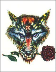 Znalezione obrazy dla zapytania colorful werewolf
