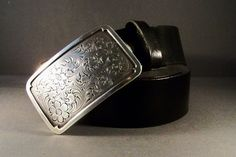 Black Leather Belt  Silver On Black by 4MLeatherDesign on Etsy, $72.00 Black Leather Belt, Silver, Etsy, Money