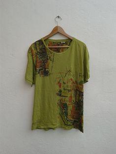 Jean-Michel Basquiat Pop Art Work People Machine Vintage 90s Abstraction Figuration T-Shirt Size XL by BubaGumpBudu on Etsy