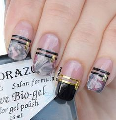 New pink and black Nail Art Photos - Styles 2d