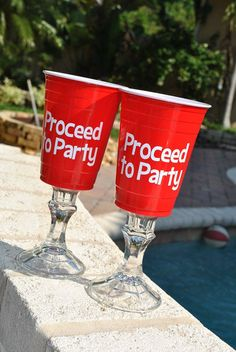 Red solo cup wine glasses by perfectpairparties1 on Etsy, $12.00