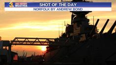 SHOT OF THE DAY: Setting sun behind the USS Wisconsin.  Have you checked out Nauticus in Norfolk?