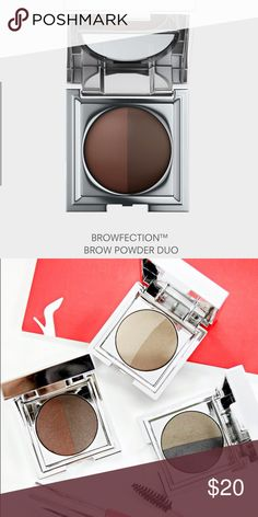 Eyebrow powder duo Browfection eyebrow powder by European wax center. Color : sepia/sienna (medium) (product comes with other free samples !!!) european wax center Makeup Eyebrow Filler