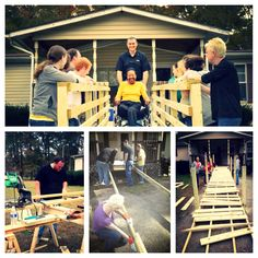 Members of Altec's Creedmoor, NC Technical Sales Support Team partnered with Rebuilding Hope to build a wheelchair ramp for Sadie Green of Granville County.