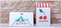 シンプルな配色で描くカード