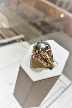 Rod Stelter - Jeweler Benbrook TX This is a customer favorite and they don't last long. From their Under the Sea collection a black Mabe pearl ring with colored diamonds.