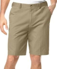 Geoffrey Beene Big & Tall Extender Waist Flat Front Shorts