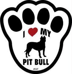 I LOVE LOVE LOVE MY RESCUED PIT BULL<3